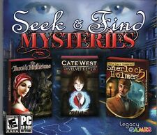 LOST CASES OF SHERLOCK HOLMES 2 + TAROT'S MISFORTUNE Hidden Object 3 PACK PC NEW