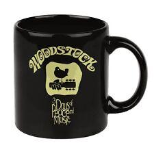 Ausgefallene Geschenke für Musiker WOODSTOCK Tasse schwarz GITARRE VOGEL LUSTIG