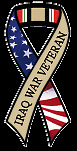 """IRAQ WAR VETERAN"" Car Ribbon Magnet **QUALITY**"