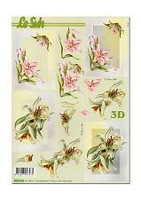 LeSuh 3D Motivbogen Etappenbogen Blumen Blüten Lilien (091)
