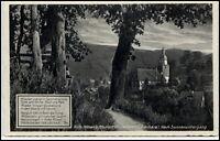 Wildemann Oberharz Niedersachsen AK ~1930/40  Teilansicht nach Sonnenuntergang