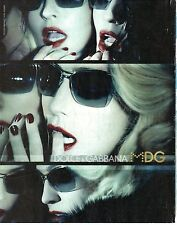 PUBLICITE ADVERTISING 2010  DOLCE &  GABBANA lunettes solaires Madonna