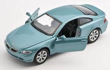 Envío relámpago bmw 645ci/645 ci verde claro 1:34 modelo Welly auto nuevo con embalaje original