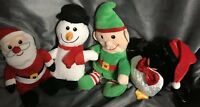 Holiday Christmas Plush Lot Penguin Elf Snowman Santa Stuffed Animal Gift Set 7""
