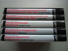 5 Bände Dokumentationen zur Geschichte der Kriege 1910-1945 von 1988