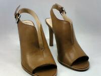 Vince Camuto Womens nachila Leather Peep Toe Casual Slingback, Brown, Size 8.5 i