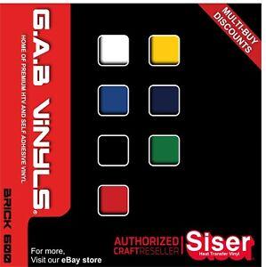 A4 sheets- Siser Easyweed Brick 600 PREMIUM  HTV Vinyl UK IRON ON