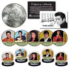 ELVIS PRESLEY 1960's-70's Music Hits 1976 Bicentennial IKE Dollar 5-Coin Set COA