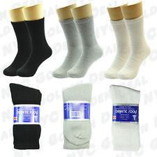 3,6 or 12 Pairs Mens Diabetic Crew Circulatory Health Socks Cotton Size 9-15