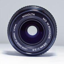 Minolta MD W.ROKKOR 35mm F/2.8 Manual Focus Wide Angle Lens