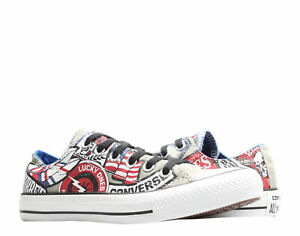 Converse Chuck Taylor All Star Old Biker Ox Old Silver/Print Sneakers 142316C