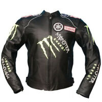 Monster Energy Motorcycle Leather Jackets Motorbike Sports Racing Bikers Jacket