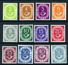 WEST GERMANY-1951-52 Short set of 12 Sg 1045-6 UNMOUNTED MINT V18089