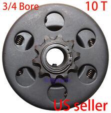 """Go Kart Minibike Centrifugal Clutch 3/4"""" 10T For Baja Mini Bike MB165 & MB200"""
