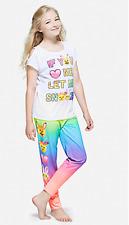 Justice Girl's Let Me Sleep Rainbow Emoji Sleep Set 20 Plus NWT