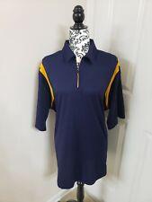 Men's Bolle Golf Tech Xl Blue and Yellow Polo Collard Golf Shirt