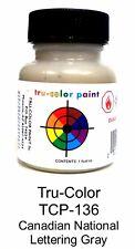 Tru-Color TCP-136 CN Canadian National Lettering Gray 1 oz Paint Bottle