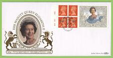 G.B. 1996 QEII 70th Birthday booklet pane Benham Gold First Day Cover, London W1