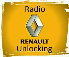 Renault Decode Unlock Code Car CD Radio Player Clio Captur Kangoo Megane Scenic