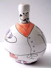 "Fat Chef with Cork Ceramic Bottle 7.5"" L x 7"" W"