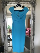 A beautiful dress by Greta Constantine for special occasion S UK8-10 turquoise