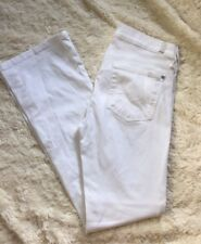 "7 SEVEN FOR ALL MANKIND White Denim Bootcut Jeans Sz 28 32"" Inseam"