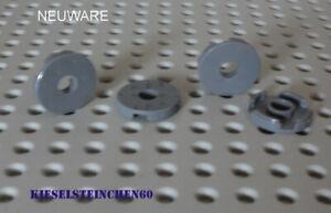 15535 LEGO®  4x Fliese 2x2 rund mit Loch - neu dunkelgrau - 6055313