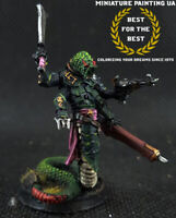 ⭐️WH40K Drukhari Dark Eldar Sslyth Painted Hero D&D Monster Naga Bounty Hunter