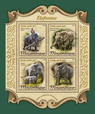 Mozambique - 2018 Elephants - 4 Stamp Sheet - MOZ18104a