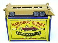 Matchbox Lesney No.16a Atlantic Transporter Trailer In Type 'B1' Series MOKO Box