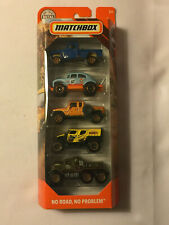 NO ROAD, NO PROBLEM 2018 Matchbox 5-Pack Die-Cast Cars - Mint in Package