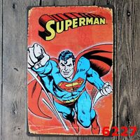 Metal Tin Sign Superman Decor Bar Pub Home Vintage Retro comic Cafe ART