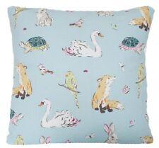 Cath Kidston New Fabric Cushion Cover Park Wildlife Rabbit Duck Tortoise Parrots