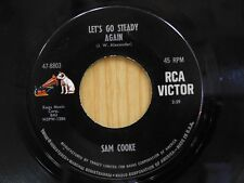Sam Cooke 45 Let's Go Steady Again bw Trouble Blues - RCA VG++
