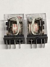 Relay MY4N-J  MY4N MY4 220V 240V 220VAC COIL with Socket PYF14A 2pcs