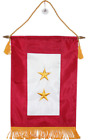 """12x18 Embroidered Two Star Gold Star KIA Military Service Flag 12""""x18"""" Banner"""