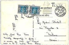 ITALIA  REPUBBLICA storia postale - SEGNATASSE su cartolina dalla SVIZZERA 1947