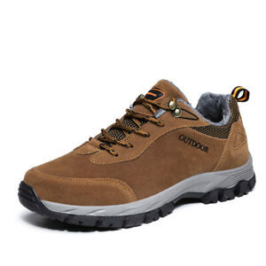 Outdoor Hiking Sneakers Men's Sports Casual Shoes Warm Fleece Climing Non Slip