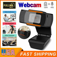 720P HD 12MP Auto USB 2.0 Webcam Camera w/ MIC for Skype PC Android TV 30fps USA
