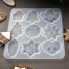 Cute Silicone Christmas Jewelry Making Mold Resin Epoxy Mould Casting DIY Craft