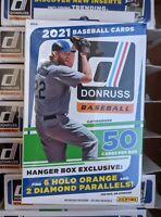 2021 Panini Donruss MLB Baseball Hanger Box Factory Sealed New Walmart Orange