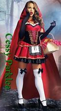 Frisky Little Racy Red Riding Hood Storybook Fancy Dress Halloween Costume