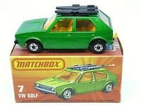 Matchbox Lesney Superfast No.7e Volkswagen Golf In Type 'K' Without 'NEW' Box