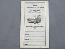 1936 McCormick Deering International Harvester IH Dealer Price Catalog Combines