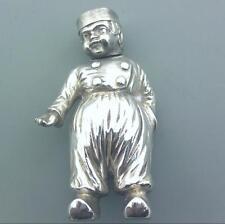 SUPER Novità Solido Argento Finissimo Pepper Pot Dutch Boy segni di importazione 1910