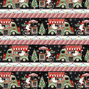 Yuletide Cheer Sweet Treat Stripe Christmas Studio E Fabric    1/2 Yard   #4723