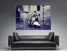 Vintage Vespa  romantic stroll Romantique ballade Art Poster Grand format A0