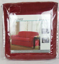 Maytex Suede Slipcover 2 Piece Loveseat – Red