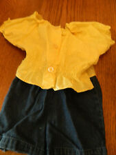 NWT Park Bench Kids girl 2pc set; yellow peasant top w/blue jeans; size 24m
