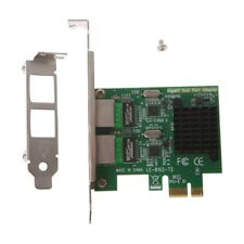Dual-Port PCI-E X1 Gigabit Ethernet Network Card 10/100/1000Mbps Rate Adapter